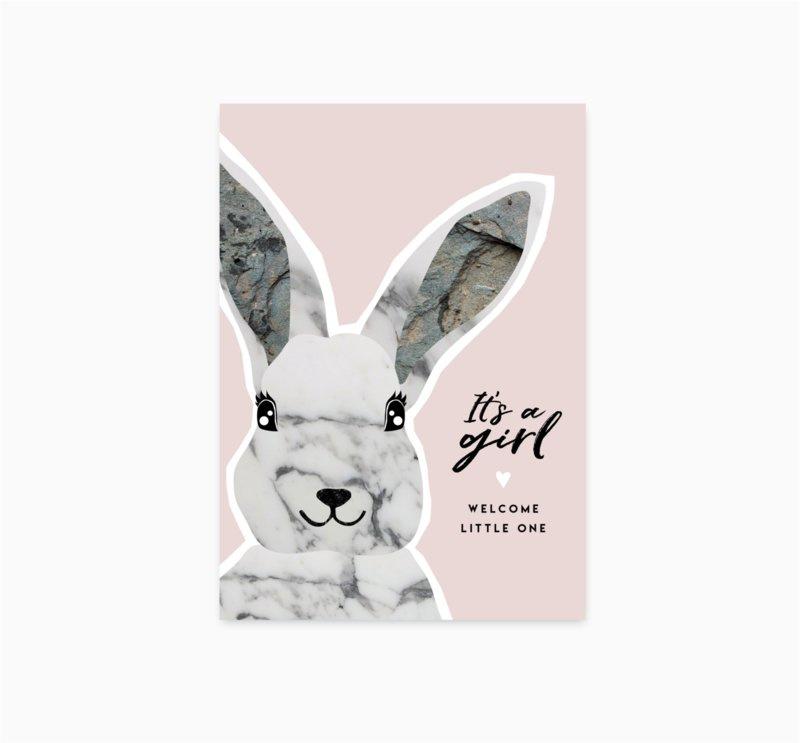Kaart 'It's a girl'