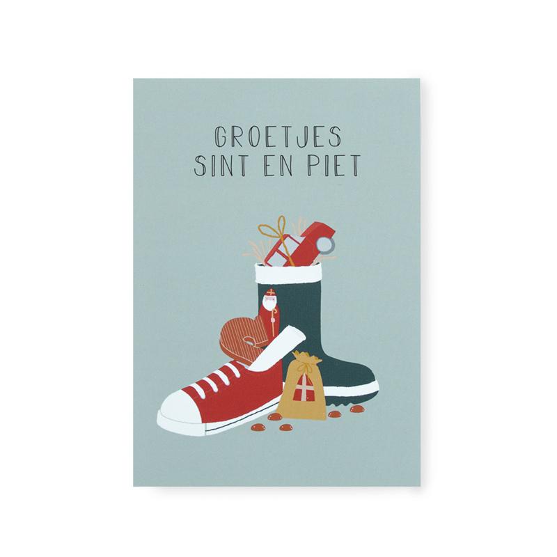 Kaart 'Groetjes Sint en Piet'