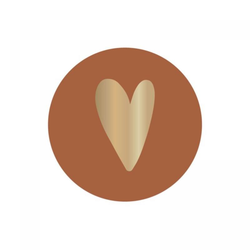 Sticker 'Hart terra' (10 stuks)