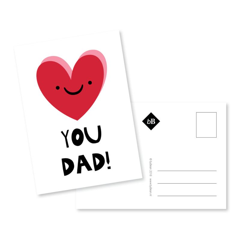 Kaart 'Love you dad!'
