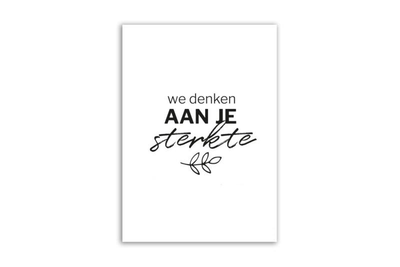 Kaart 'We denken aan je sterkte'