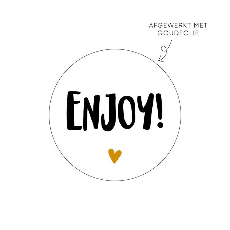 Sticker 'Enjoy' (10 stuks)