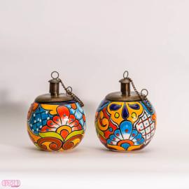 Olielampjes Mexicaans aardewerk