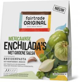 Kruidenpasta Mexicaanse enchilada's met groene salsa