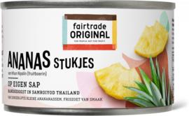 Ananasstukjes op eigen sap 227 gr