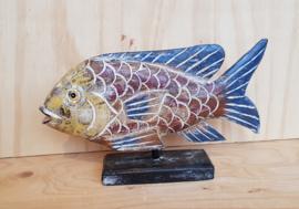 Houten decoratie vis