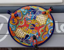 Mexicaans aardewerk vogelbadje