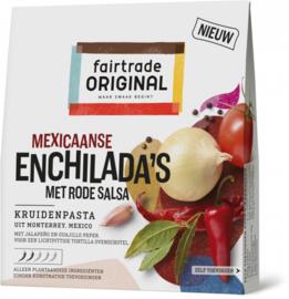 Kruidenpasta Mexicaanse enchilada's met rode salsa