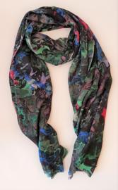 Sjaal van wol en zijde