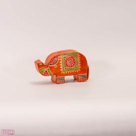 Lederen spaarpot olifantje