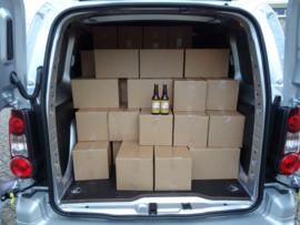Doos met 24 flesjes bier 33cl