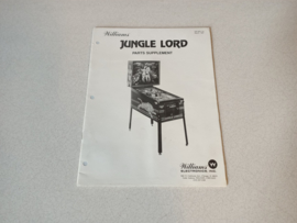Parts Supplement Manual (Jungle Lord) Williams 1981