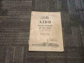 Operating Instructions Manual Bally Lido (Bingo) 1961