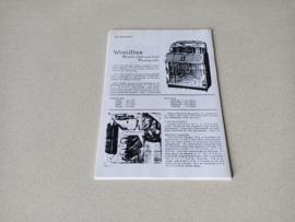 Service Manual (Wurlitzer 1500) Kopy