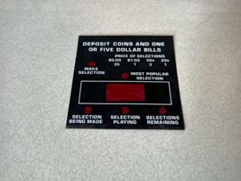 Selection Display Plastic (Rowe-AMi R85)