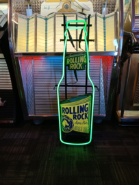 Neon Verlichting/ Neon Sign (Rolling Rock Beer) USA 100cm SOLD !!