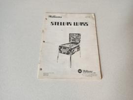 Instruction Manual (Steller Wars) Williams 1979