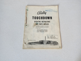 Installation Manual Bally Touchdown (1960) Bingo
