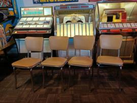 4x Diner Eetkamer Stoelen (USA) Fifties # Sixties