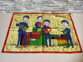Thee doek The Beatles (1964) Verry Rare !!! (Blauw)