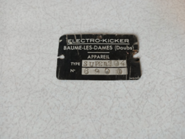 Type Plate (jupiter 104S)