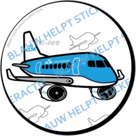 KLM Cityhopper Embraer sticker