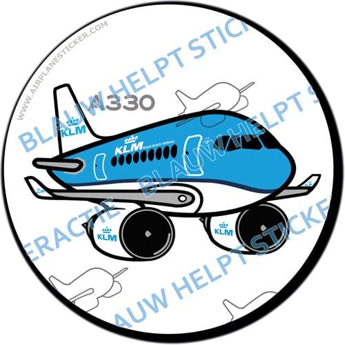 KLM Airbus A330 sticker