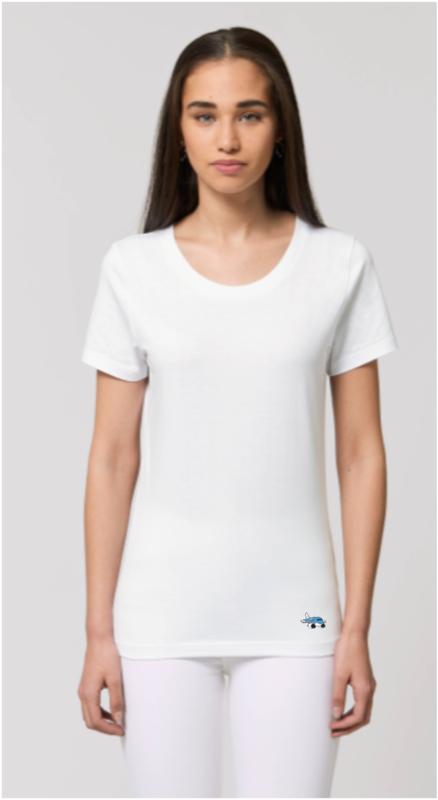 Dames T-Shirt met Airplanesticker opdruk