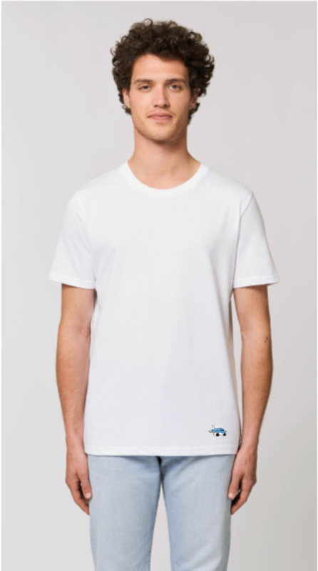 Heren T-Shirt met Airplanesticker opdruk