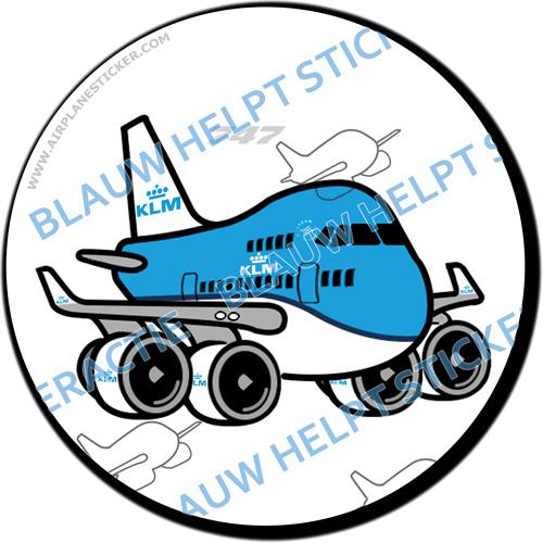 KLM Boeing 747 sticker