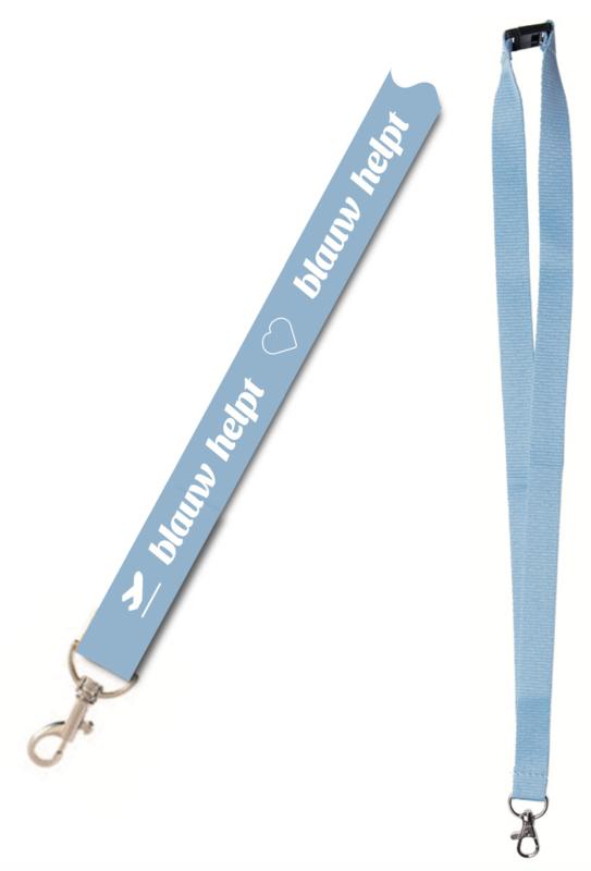 Keycord / Lanyard Blauw Helpt