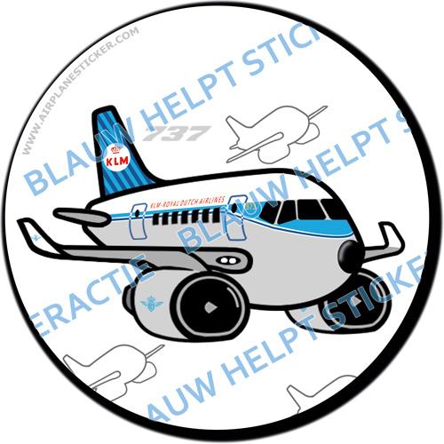 KLM Boeing 737 Retro sticker