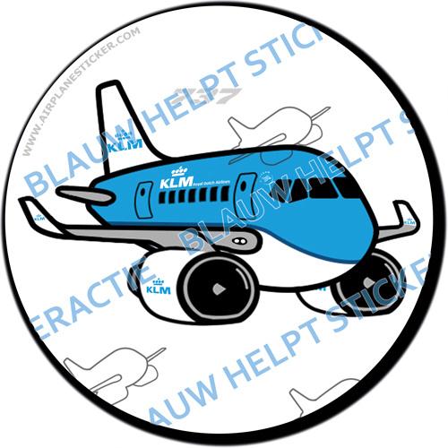 KLM Boeing 737 sticker