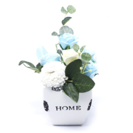 Bloempot soothing blue