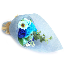 Bloemboeket staand blauw