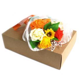 Bloemboeket oranje special boxed