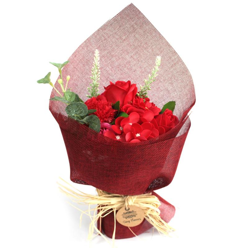 Bloemboeket staand rood