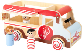 Speelgoedwagen ijsauto met of zonder naam