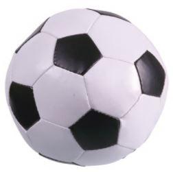 Zachte voetbal klein zwart/wit met naam