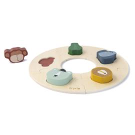 Houten ronde puzzel - Trixie