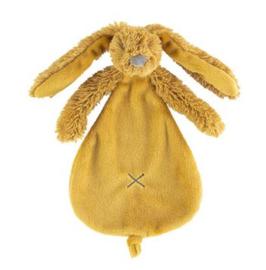 Happy Horse Rabbit Richie konijn ochre  knuffeldoekje met of zonder naam