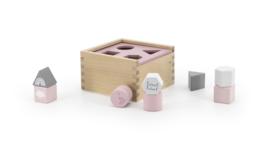 Label Label - Houten vormenstoof - Pink