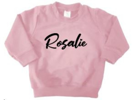 Sweater roze - diverse opdruk