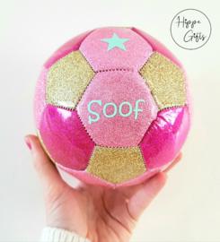 Voetbal mini (15cm) glitter  met naam