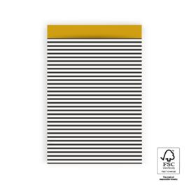 5x Cadeauzak |Stripes Black - M