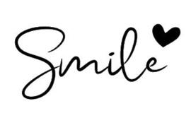 Strijkapplicatie - Smile hartje