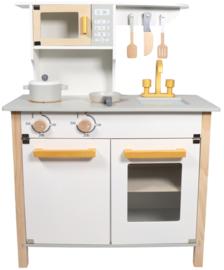 Tryco -  Houten Keuken Wit/Goud