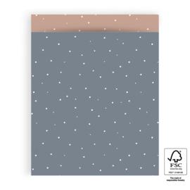 5x Cadeauzakje | Dot Sky Blue - L