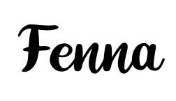 Naam sticker lettertype Fenna