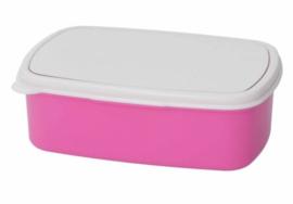 Broodtrommel roze diverse opdruk